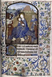 manuscript image of The Flight Into Egypt